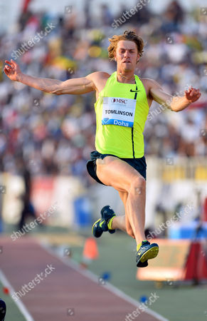 Christopher Tomlinson of Britain in Action During the Mens Long Jump Competition at the Iaaf Diamond League Meeting in Doha Qatar 09 May 2014 Qatar Doha