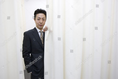 Stock Photo of Kabuki actor Onoe Kikunosuke V