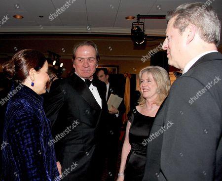 Dawn Jones, Tommy Lee Jones, Tipper Gore and former Vice President Al Gore