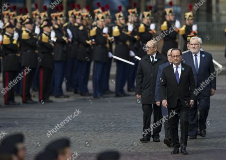 Francois Hollande, Jean-Yves Le Drian and Jean-Marc Todeschini