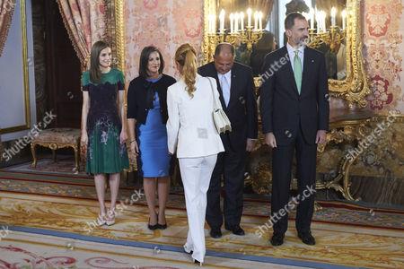 Queen Letizia, María Mercedes Penas Domingo, President Luis Guillermo Solis, King Felipe VI of Spain, Esther Alcocer Koplowitz
