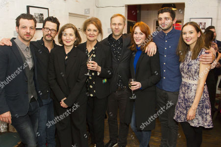 Gethin Anthony (Jake), Robert Lonsdale (Mike), Nancy Crane (Meg), Kate Fahy (Lorraine), James Hillier (Director), Laura Rogers (Sally), Michael C Fox (Frankie) and Alexandra Dowling (Beth)