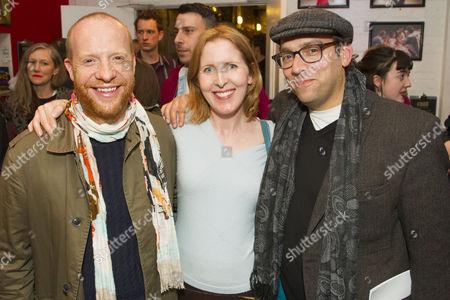 Jonathan Slinger, Fenella Woolgar and Ben Caplan