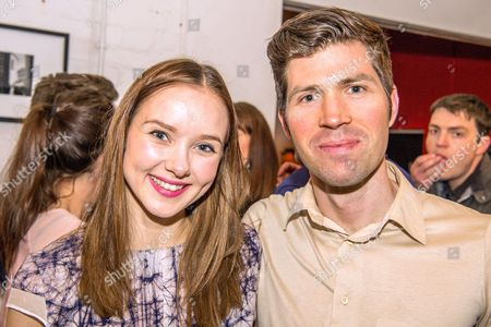Stock Photo of Alexandra Dowling (plays Bethh) with James Marples, the musician