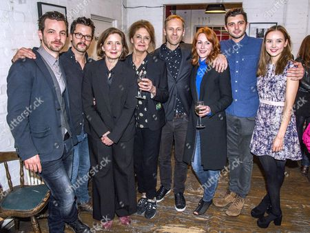Gethin Anthony, Robert Lonsdale, Nancy crane, Director James Hillier, Kate Fahy, Laura Rogers, Michael C Fox and Alexandra Dowling (then cast)