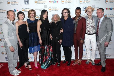 Stock Picture of Bruce Cohen, Emily Skeggs, Maddie Corman, Ivory Aquino, Edie Windsor, Rosie O'Donnell, Justin Sams and Denis O'Hare
