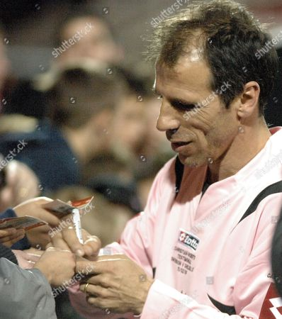 Gianfranco Zola signing an autograph