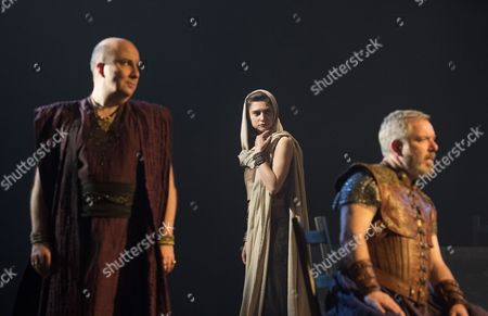 Paul Chahidi as Herod, Isabella Nefar as Salome, Lloyd Hutchinson as Pilate