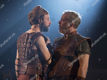 Philip Arditi as Caiaphus, Lloyd Hutchinson as Pilate