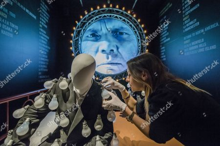Editorial image of 'Pink Floyd: Their Mortal Remains' exhibition photocall, V&A Museum, London, UK - 09 May 2017