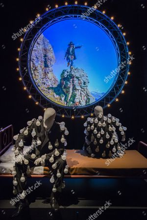 Light Bulb suits are recreated from originals by Storm Thorgerson for the album Delicate Sound of Thunder