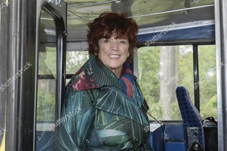 TV and film producer Regina Ziegler looks out of a bus prior to a photocall on the set of the fourth season of the German TV series 'Weissensee' in Berlin, Germany, 09 May 2017. In 'Weissensee' the fate of a family from the former GDR, before, during and after the fall of the Berlin Wall is told. The fourth season starts in the spring of the year 1990 just before the first free elections in the last days of the German Democratic Republic. The shooting of season number four takes place in and around Berlin from 20 April 2017 until 26 Juli 2017.