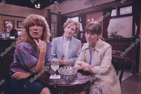 Stock Picture of Anne Kirkbride (as Deirdre Barlow), Eileen Derbyshire (as Emily Bishop) and Annie Tyson (as Jean Meredith)