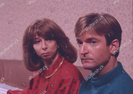 Helen Worth (as Gail Tilsley) and Michael Loney (as Ian Latimer)