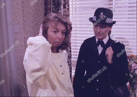 Stock Image of Helen Worth (as Gail Tilsley) and Elaine Hallam (as Sergeant Lynne Powell)
