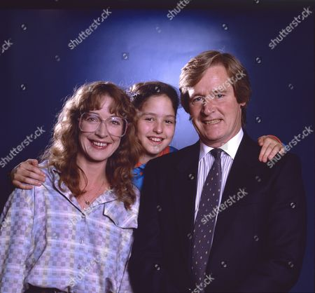 Stock Image of Anne Kirkbride (as Deirdre Barlow), Holly Chamarette (as Tracy Barlow) and William Roache (as Ken Barlow)