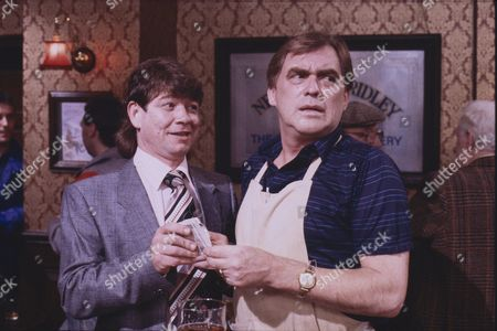Roy Holder (as Mikey Lister) and William Tarmey (as Jack Duckworth)