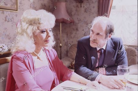 Stock Picture of Julie Goodyear (as Bet Gilroy) and Jon Strickland (as Mr Jarvis)