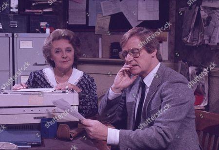 Hope Johnstone (as Janet Bamford) and William Roache (as Ken Barlow)