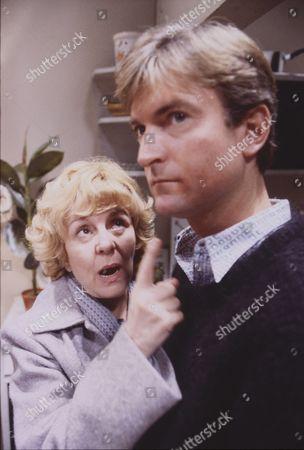 Lynne Perrie (as Ivy Tilsley) and Michael Loney (as Ian Latimer)