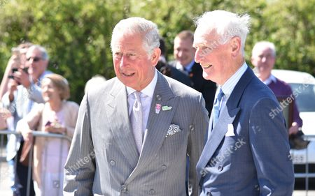 Prince Charles visits the Seamus Heaney HomePlace arts and literary centre in Bellaghy