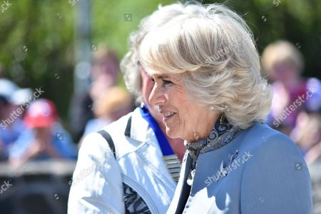 Camilla Duchess of Cornwall visits the Seamus Heaney HomePlace arts and literary centre in Bellaghy