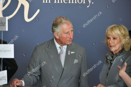 Prince Charles and Camilla Duchess of Cornwall visit the Seamus Heaney HomePlace arts and literary centre in Bellaghy
