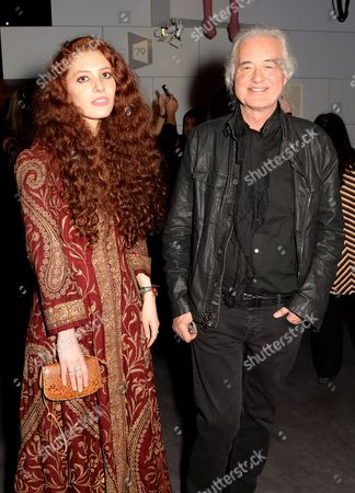 Scarlett Sabet and Jimmy Page