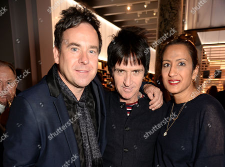 Dominic Mohan and Johnny Marr