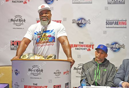 Editorial image of Briggs v Oquendo fight press conference, Hollywood, USA - 09 May 2017