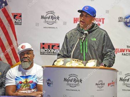 Stock Picture of Shannon Briggs, Fres Oquendo