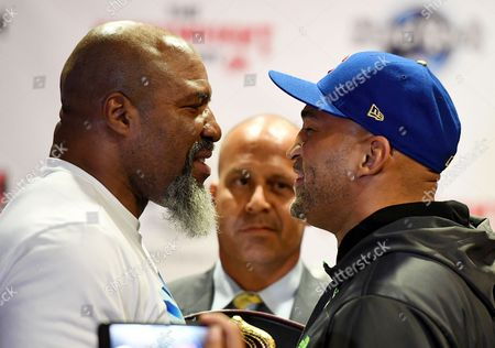 Editorial photo of Briggs v Oquendo fight press conference, Hollywood, USA - 09 May 2017