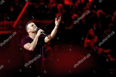 Singer Andras Kallay-saunders Representing Hungary Performs His Song 'Running' During Rehearsals For the First Semi-final of the 59th Annual Eurovision Song Contest at the B&w Hallerne in Copenhagen Denmark 05 May 2014 the Two Semi-finals Will Take Place on 06 and 08 May the Grand Final on 10 May Denmark Copenhagen