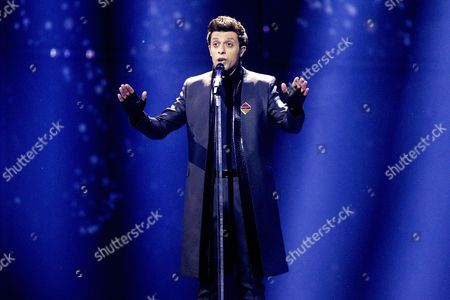 Singer Aram Mp3 Representing Armenia Performs His Song 'Not Alone' During Rehearsals For the First Semi-final of the 59th Annual Eurovision Song Contest at the B&w Hallerne in Copenhagen Denmark 05 May 2014 the Two Semi-finals Will Take Place on 06 and 08 May the Grand Final on 10 May Denmark Copenhagen