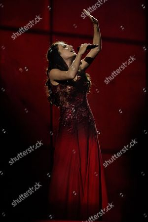 Singer Dilara Kazimova Representing Azerbaijan Performs Her Song 'Start a Fire' During the Rehearsals For the First Semi-final of the 59th Annual Eurovision Song Contest at the B&w Hallerne in Copenhagen Denmark 05 May 2014 the Two Semi-finals Will Take Place on 06 and 08 May the Grand Final on 10 May Denmark Copenhagen
