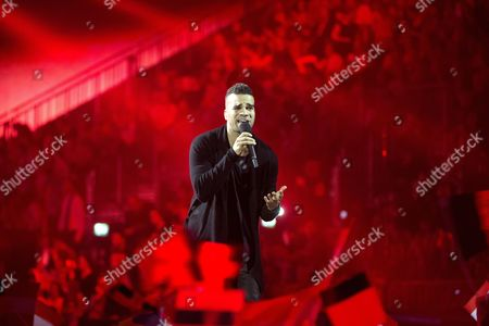 Andras Kallay-saunders Representing Hungary Performs During the 59th Annual Eurovision Song Contest (esc) at the B&w Hallerne in Copenhagen Denmark 10 May 2014 Sixteen Countries Are Competing in the Grand Finale Denmark Copenhagen