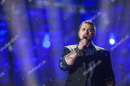 Singer Carl Espen Representing Norway Performs During Rehearsals For the Second Semi-final of the 59th Annual Eurovision Song Contest in Copenhagen Denmark 07 May 2014 the Second Semi-final Will Take Place on 08 May the Grand Final on 10 May Denmark Copenhagen