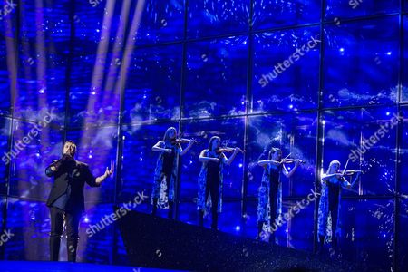 Carl Espen Representing Norway Performs During Rehearsals For the Second Semi-final of the 59th Annual Eurovision Song Contest in Copenhagen Denmark 07 May 2014 the Second Semi-final Will Take Place on 08 May the Grand Final on 10 May Denmark Copenhagen