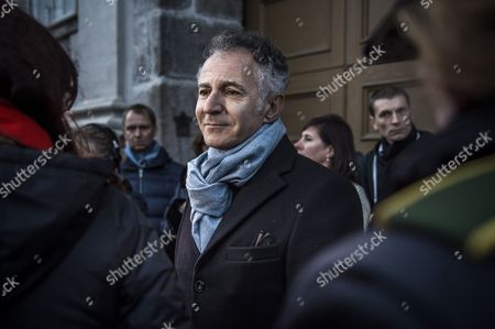 French Ambassador to Denmark Francois Zimeray As He Joins the Mourning in Front of the French Embassy in Copenhagen Denmark 14 November 2015 at Least 120 People Have Been Killed in a Series of Attacks in Paris on 13 November According to French Officials Eight Assailants Were Killed Seven when They Detonated Their Explosive Belts and One when He was Shot by Officers Police Said French President Francois Hollande Says That the Attacks in Paris Were an 'Act of War' Carried out by the Islamic State Extremist Group Denmark Copenhagen