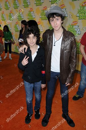 Stock Photo of  Alex Wolff and Nat Wolf