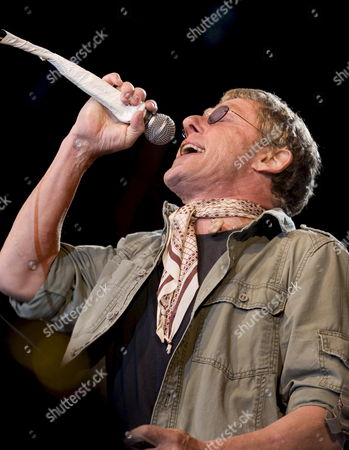 Lead Singer of the British Pop Band the who Roger Daltry Performs at the Roskilde Festival Denmark 07 July 2007 Denmark Roskilde