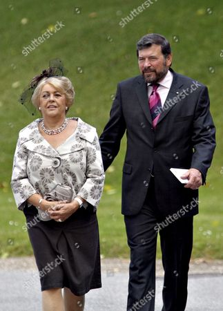 Australian John Donaldson (r) Father of Danish Crown Princess Mary and His Wife Susan Donaldson Leave the Church of the Fredensborg Palace North of Copenhagen Denmark 01 July 2007 After the Christening of Two-month-old Danish Princess Isabella Henrietta Ingrid Margrethe who is the Youngest Child of Danish Crown Prince Frederik and Crown Princess Mary Denmark Fredensborg