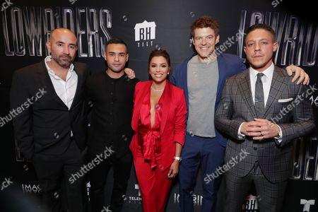 Ricardo de Montreuil, Gabriel Chavarria, Eva Longoria, Jason Blum, Theo Rossi