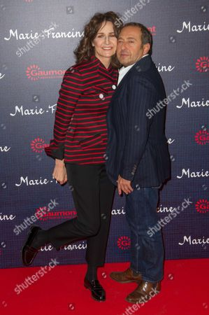 Valerie Lemercier and french actor Patrick Timsit