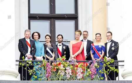 Stock Image of Crown Prince Pavlos and Crown Princess Marie-Chantal   Prince Nikolaos and Princess Tatiana   Crown Princess Mary and Crown Prince Frederik   Queen Margrethe II   Crown Princess Victoria and Prince Daniel   Prince Carl Philip and Princess Sofia of Sweden