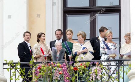 Queen Anne-Marie   Crown Prince Pavlos and Crown Princess Marie-Chantal   Prince Nikolaos and Princess Tatiana   Crown Princess Mary and Crown Prince Frederik   Queen Margrethe II