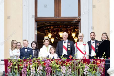 Crown Prince Haakon and Crown Princess Mette-Marit and Prince Sverre Magnus and Marius Borg Hoiby   Princess Martha Louise and Maud Angelica and Leah Isadora and Emma Tallulah