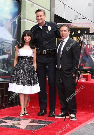Carol Goldsmith, Aaron Goldsmith and LAPD Captain Cory Palka