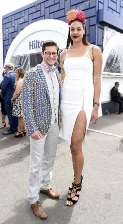Australian Basketball Player Liz Cambage (r) and Australian Actor Rob Mills Arrive at the Birdcage on Melbourne Cup Day at Flemington Racecourse in Melbourne Victoria Australia 01 November 2016 Australia Melbourne