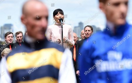 South Korean-born Australian Singer Dami Im Sings the National Anthem Before the Melbourne Cup on Melbourne Cup Day at Flemington Racecourse in Melbourne Victoria Australia 01 November 2016 Australia Melbourne